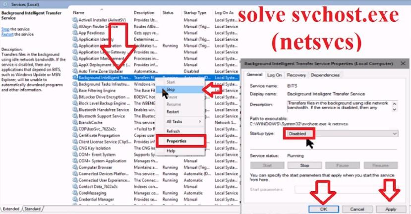 Fix Svchost.exe (netsvcs) Memory Leak or High CPU Usage Errors [Easiest Methods]
