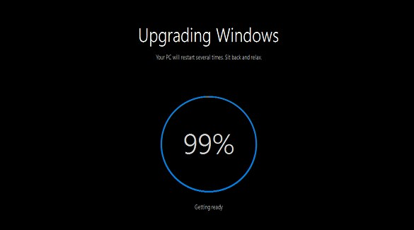 Windows 10 Upgrade Stuck at 99 Percent