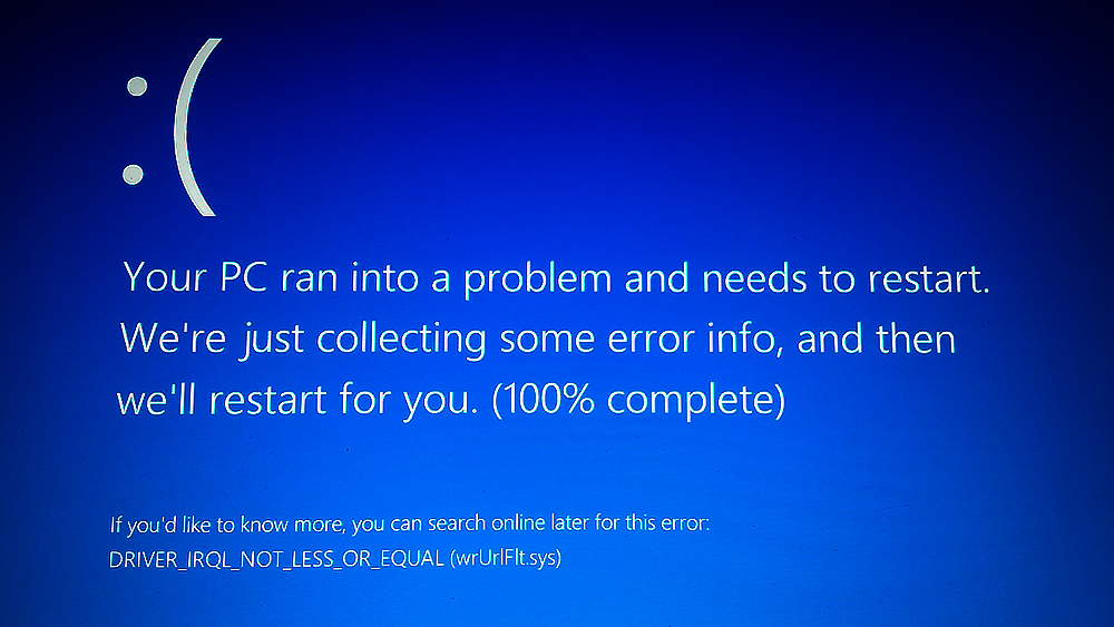 Fix DRIVER_IRQL_NOT_LESS_OR_EQUAL Windows 10 Error