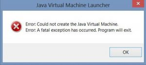 Fix Java Virtual Machine
