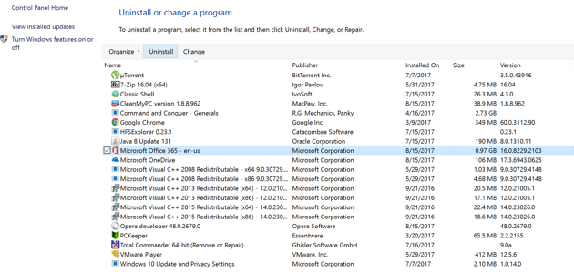 How to Uninstall Apps on Windows 10 from the Control Panel