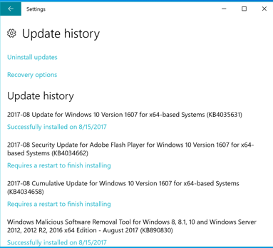 How to Uninstall Updates on Windows 10