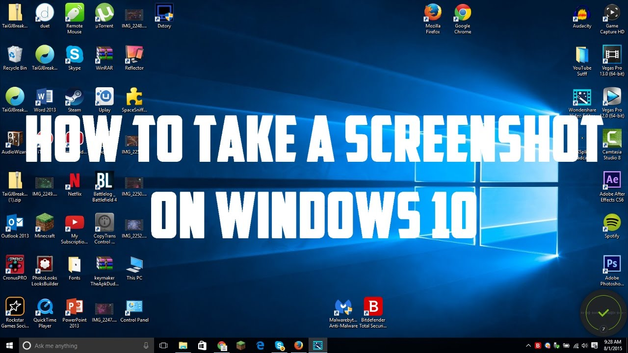 Take a Screenshot on windows 10