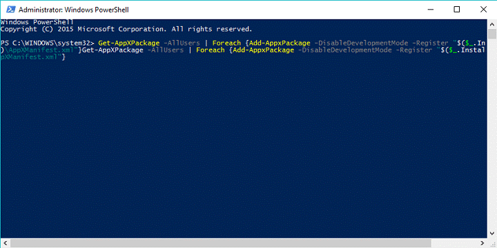 Register Windows 10 Applications Again using Windows PowerShell