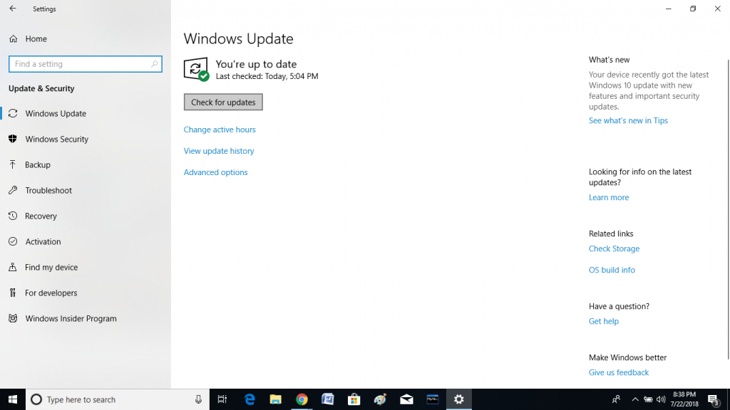 Update the Windows Software