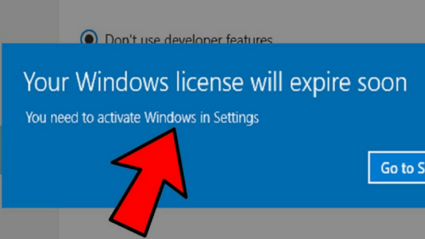 windows license expires soon