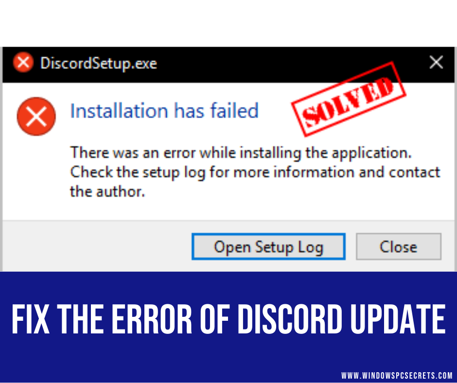 fix the error of Discord Update