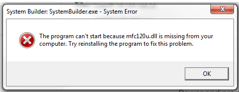 Mfc120u.dll is Missing